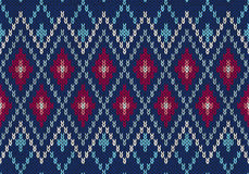 Seamless Ornamental Male Style Knitted Pattern Royalty Free Stock Photography