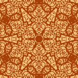 Seamless ornamental mandala background wallpaper. Royalty Free Stock Image