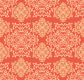 Seamless ornamental pattern. Seamless ornamental abstract pattern in orange and pastel colors Royalty Free Stock Images