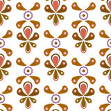 Seamless ornamental pattern background Stock Photos