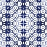 Seamless ornamental pattern in blue Royalty Free Stock Photos