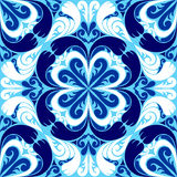 Seamless ornamental Pattern with blue-white Orname Stock Images