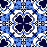 Seamless ornamental Pattern on a dark blue Background. Stock Photography
