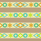 Seamless ornamental pattern decoration elements background Royalty Free Stock Photo