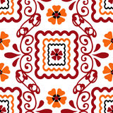 Seamless ornamental pattern decoration elements texture backgrou Stock Photo