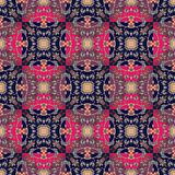 Seamless ornamental pattern. Festive print. 1 Royalty Free Stock Image
