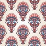 Seamless ornamental pattern. Royalty Free Stock Photo