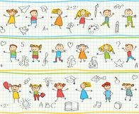 Seamless ornamental pattern for kids Stock Photography