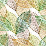 Seamless ornamental pattern with leaves Stock Photo
