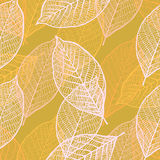 Seamless ornamental pattern with leaves Royalty Free Stock Images