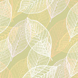 Seamless ornamental pattern with leaves Stock Photos