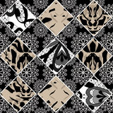 Seamless ornamental pattern patchwork background Royalty Free Stock Images