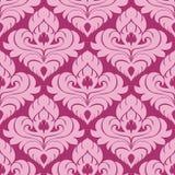 Seamless ornamental pink damask Wallpaper Royalty Free Stock Photography
