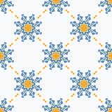 Seamless ornamental symbols pattern Royalty Free Stock Photography