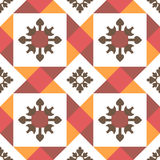 Seamless ornamental tile background Stock Photography
