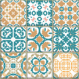 Seamless ornamental tile backgrounds. Vector royalty free illustration
