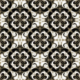 Seamless ornamental Wallpaper with black-white Ornament. Royalty Free Stock Photography