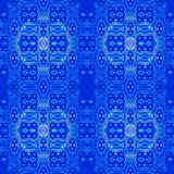 Seamless ornaments blue shades Royalty Free Stock Photography