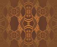 Seamless ornaments brown gold Royalty Free Stock Photo