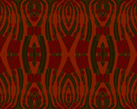Seamless ornaments dark red and green on orange Royalty Free Stock Photos