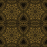 Seamless ornaments gold black Royalty Free Stock Photography