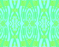 Seamless ornaments light blue lime green and mint green Stock Photos