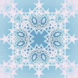 Seamless ornaments light gray and white on pastel blue Stock Photos