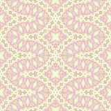 Seamless ornaments pink violet yellow beige Stock Photo