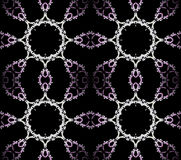 Seamless ornaments purple white black Royalty Free Stock Images