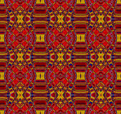 Seamless ornaments red ocher brown Stock Images