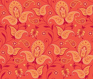Seamless ornate background. Ornate seamless background with paisley Stock Photography