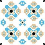 Seamless ornate background or pattern in blue and brown Royalty Free Stock Photos