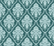 Seamless ornate damask Wallpaper for design. Ornament with bouquet of Flowers. Stock Photo