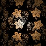 Seamless Ornate Floral Pattern with Hop Royalty Free Stock Photos