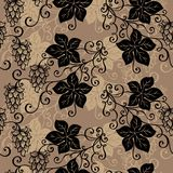 Seamless Ornate Floral Pattern with Hop Royalty Free Stock Images