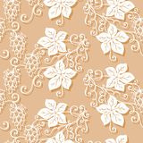 Seamless Ornate Floral Pattern with Hop Stock Image