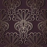 Seamless Ornate Floral Pattern Stock Photo
