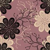 Seamless Ornate Floral Pattern Stock Photo