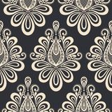 Seamless Ornate Floral Pattern Stock Image
