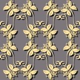 Seamless Ornate Floral Pattern Royalty Free Stock Images