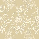 Seamless Ornate Floral Pattern Royalty Free Stock Image