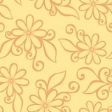 Seamless Ornate Floral Pattern Royalty Free Stock Photo
