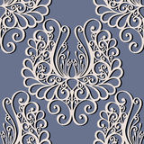 Seamless Ornate Floral Pattern Stock Photos