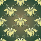 Seamless Ornate Floral Pattern Royalty Free Stock Photography