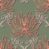 Seamless Ornate Floral Pattern Stock Photography