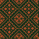 Seamless ornate knitted pattern Royalty Free Stock Photos