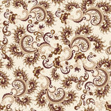 Seamless ornate pattern in beige and brown colors Stock Photo
