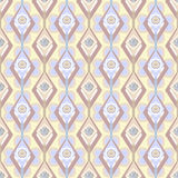 Seamless ornate pattern with geometric elements background Stock Image