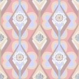 Seamless ornate pattern with geometric elements background Stock Photography