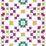 Seamless ornate pattern in purple, green, ocher Royalty Free Stock Images